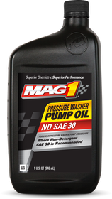 MAG 1® Pressure Washer Pump Oil Front