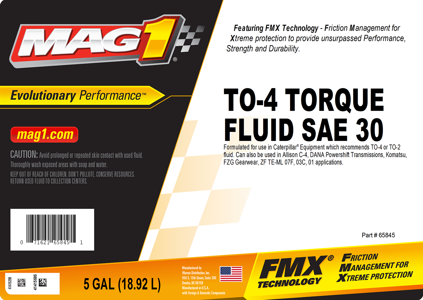 MAG 1® TO-4 Torque Fluid SAE 30