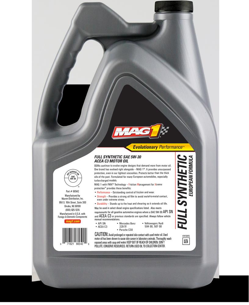 MAG 1® Full Synthetic European 5W-30 C3 Motor Oil VW507