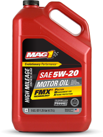 PCMO High Mileage Synthetic 5W-20 Front