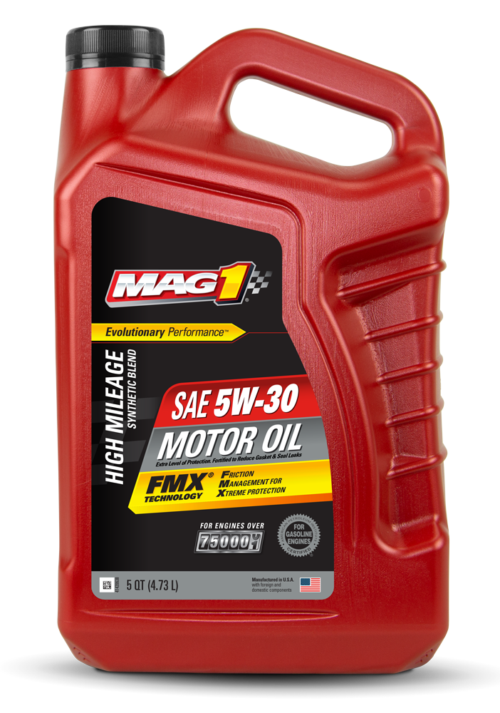 MAG 1® High Mileage Synthetic Blend 5W‑30 Motor Oil