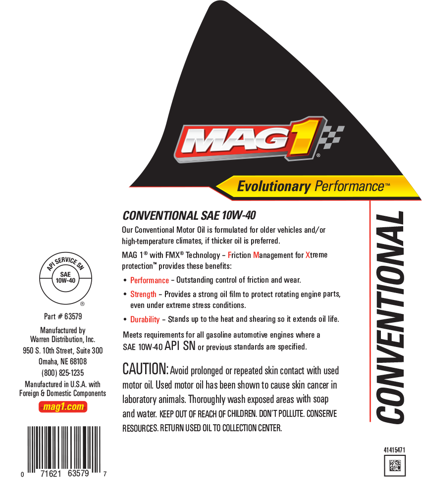 MAG 1® Conventional 10W-40 Motor Oil