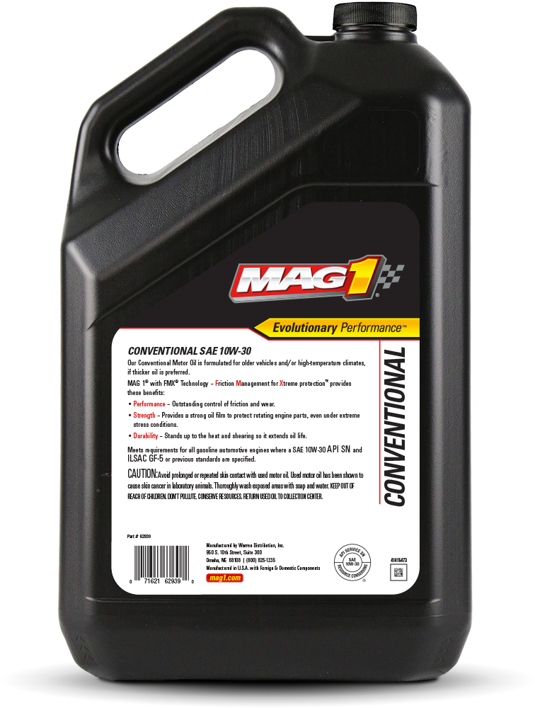 Mag 1 conventional 10w 30 motor oil for Used motor oil sds