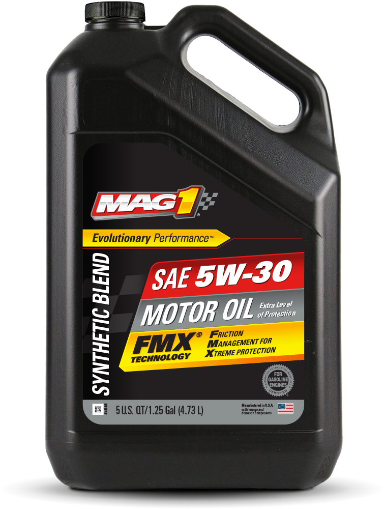 Mag 1 synthetic blend 5w 30 motor oil for Used motor oil sds