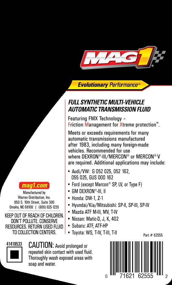 MAG 1® Multi-Vehicle Transmission Fluid