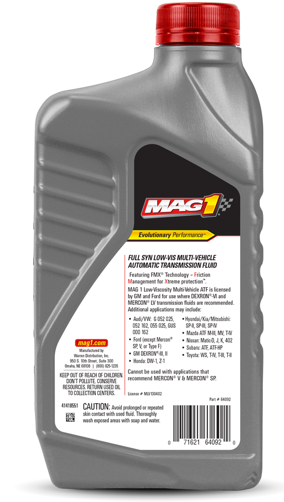 MAG 1® Low Viscosity Multi-Vehicle Transmission Fluid