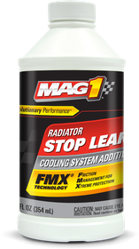 VehicleMaintenanceFluids_CoolingSystemAdditives_MAG1RadiatorStopLeak_12OZ_00332_front